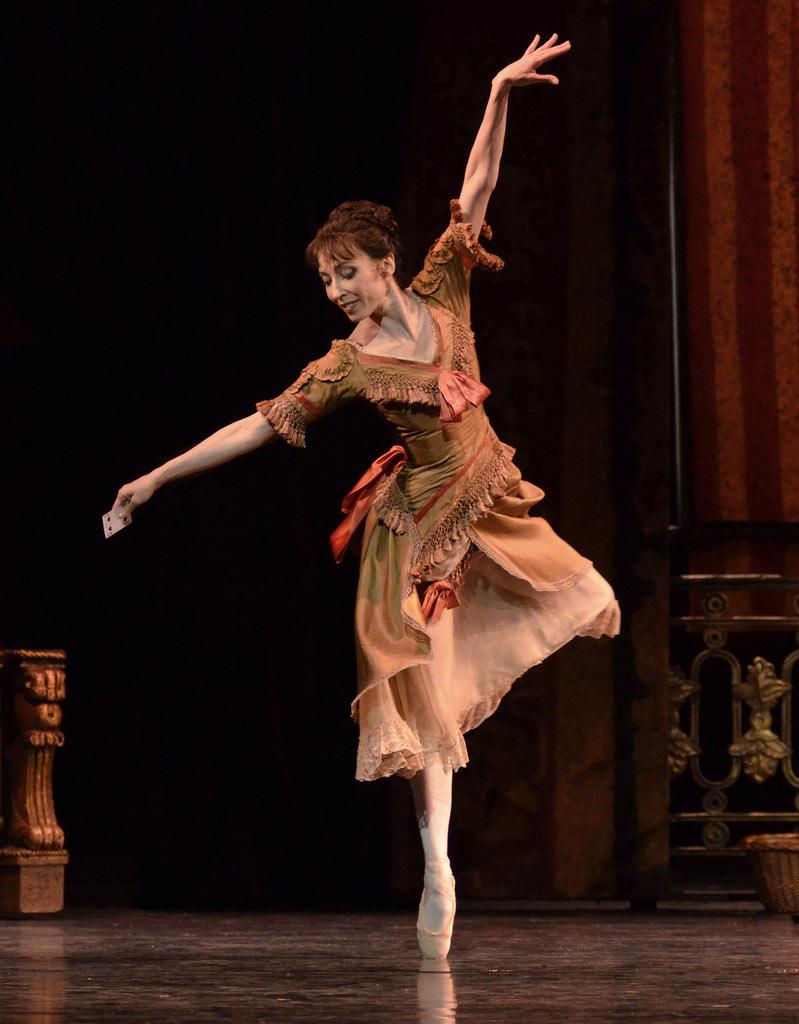 Mara Galeazzi as Baroness Mary Vetsera in The Royal Ballet's Mayerling.© Dave Morgan, courtesy the Royal Opera House. (Click image for larger version)