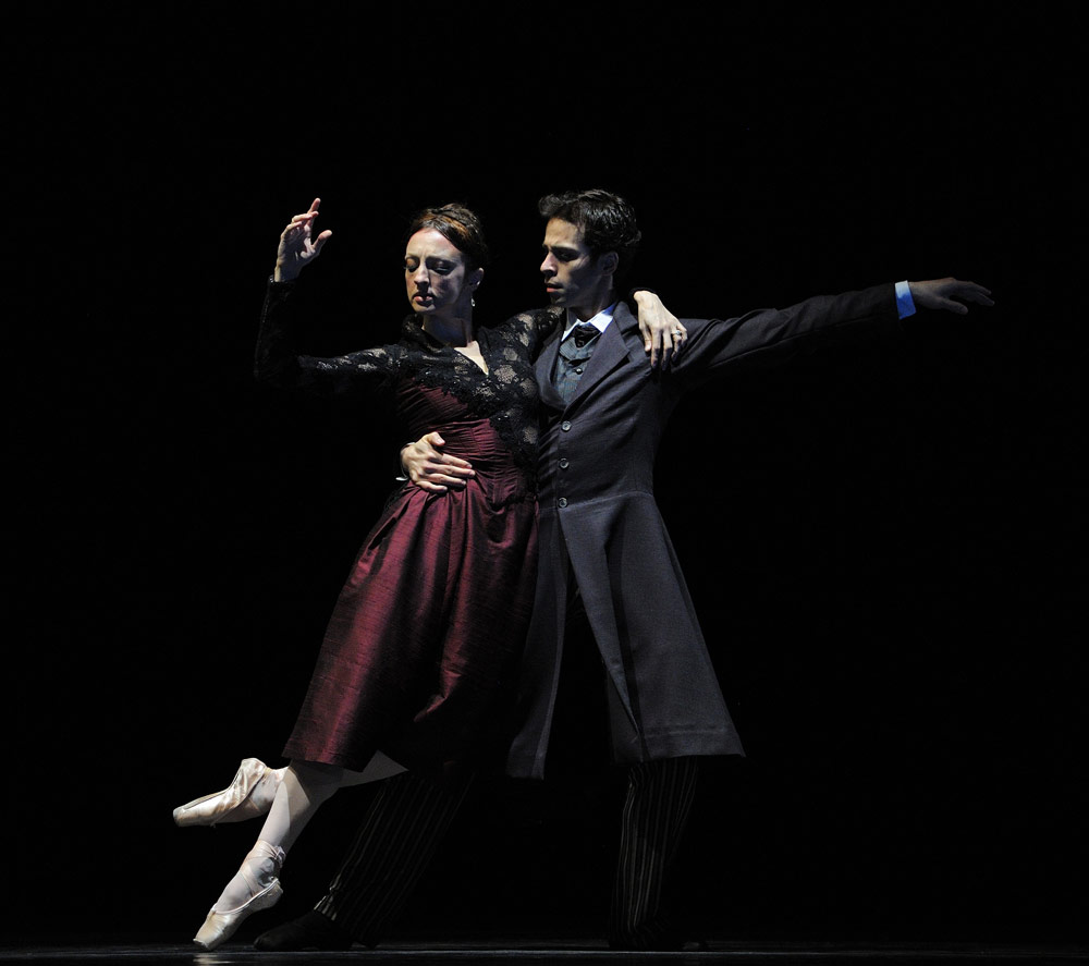 Lorena Feijoo and Vitor Luiz in Caniparoli's <I>Ibsen's House</I>.<br />© Erik Tomasson. (Click image for larger version)