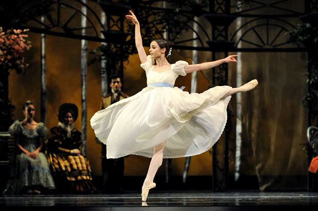 Maria Kochetkova in Cranko's <I>Onegin</I>.<br />© Erik Tomasson. (Click image for larger version)