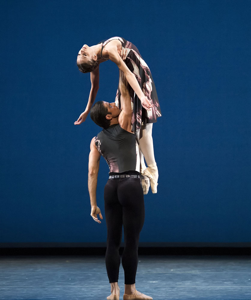 Polina Semionova and Marcelo Gomes in <I>Symphony #9</I>.<br />© Gene Schiavone. (Click image for larger version)