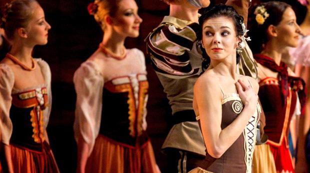 Natalia Osipova in <I>Laurencia</I> (from her 2012 Mikhailovsky debut).<br />© The Mikhailovsky Theatre. (Click image for larger version)