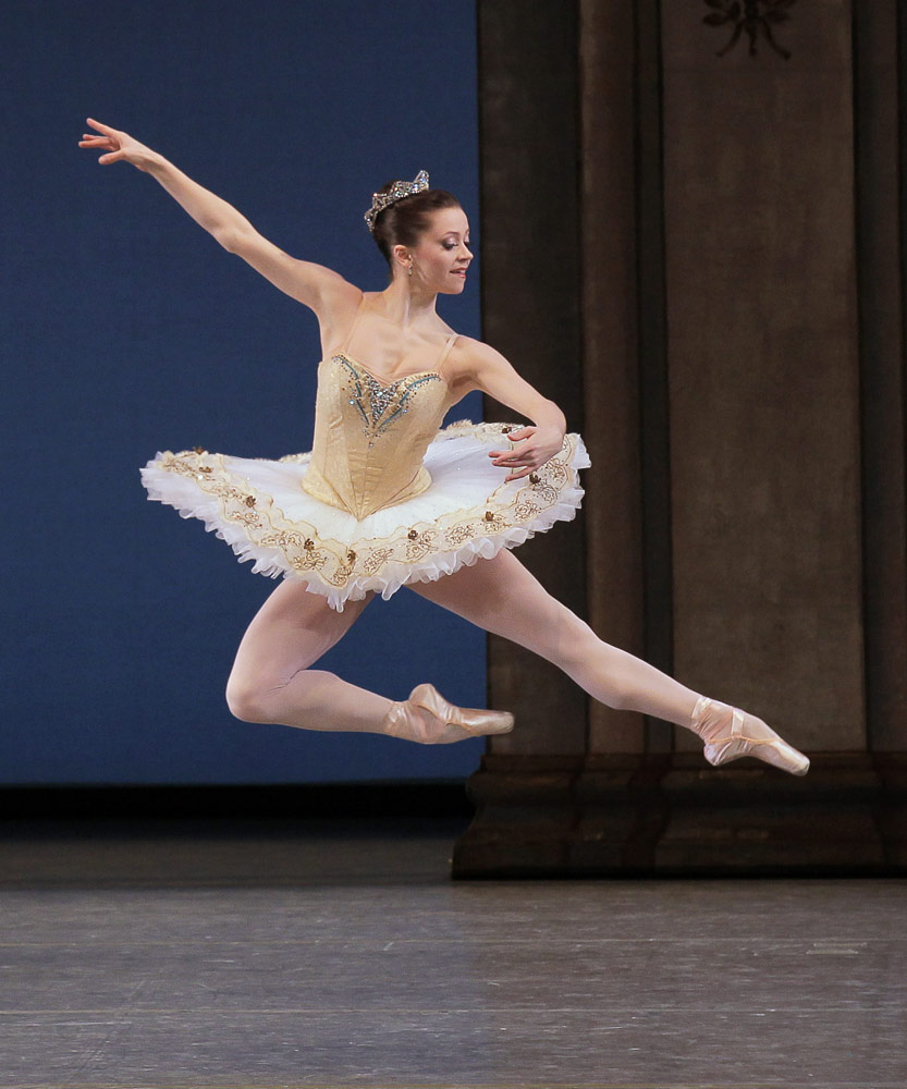 Megan Fairchild in George Balanchine's <I>Tschaikovsky Suite No. 3</I>.<br />© Paul Kolnik. (Click image for larger version)