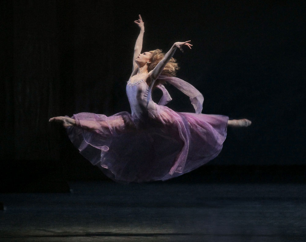 Sara Mearns in George Balanchine's <I>Tschaikovsky Suite No. 3</I>.<br />© Paul Kolnik. (Click image for larger version)
