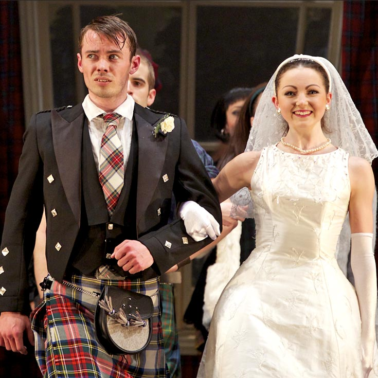 Christopher Harrison (James) and Katie Webb (Effie) in Highland Fling.© Andy Ross. (Click image for larger version)