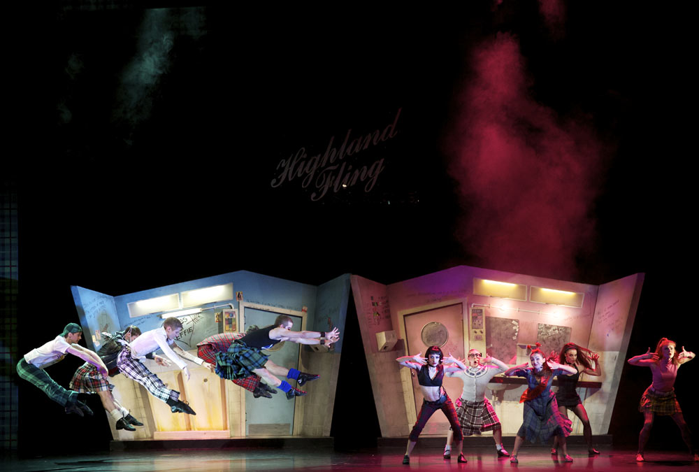 Scottish Ballet in <I>Highland Fling</I>.<br />© Andy Ross. (Click image for larger version)