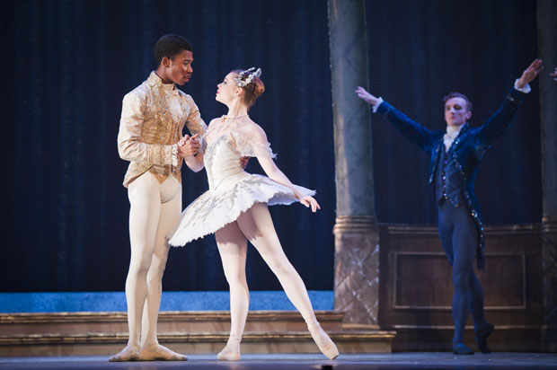 Daniela Oddi and Mlindi Kulashe in <I>My First Cinderella</I>.<br />© David Jensen. (Click image for larger version)