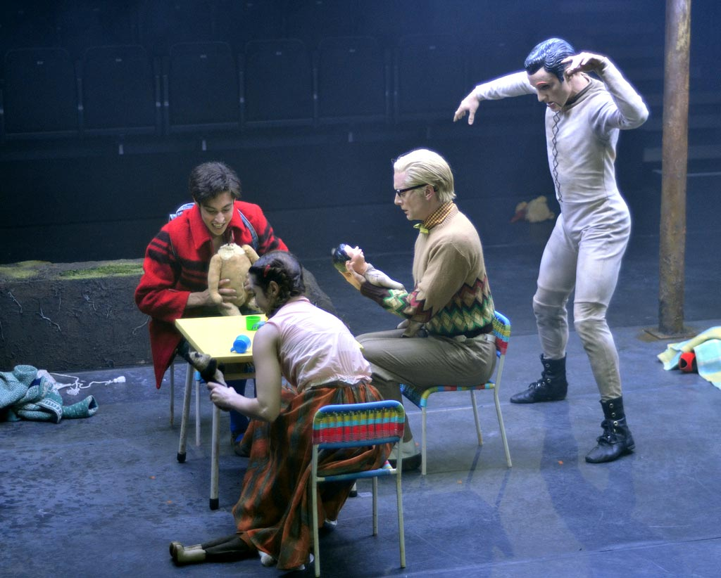 James Hay, Leanne Cope, Brian Maloney and Steven McRae in Liam Scarlett's <I>Hansel and Gretel</I>.<br />© Dave Morgan, courtesy the Royal Opera House. (Click image for larger version)