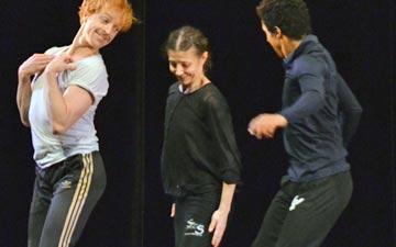 Charlie Siem, Steven McRae, Alina Cojocaru and Marcelino Sambe in Johan Kobborg's Les Lutins rehearsals.© Dave Morgan. (Click image for larger version)