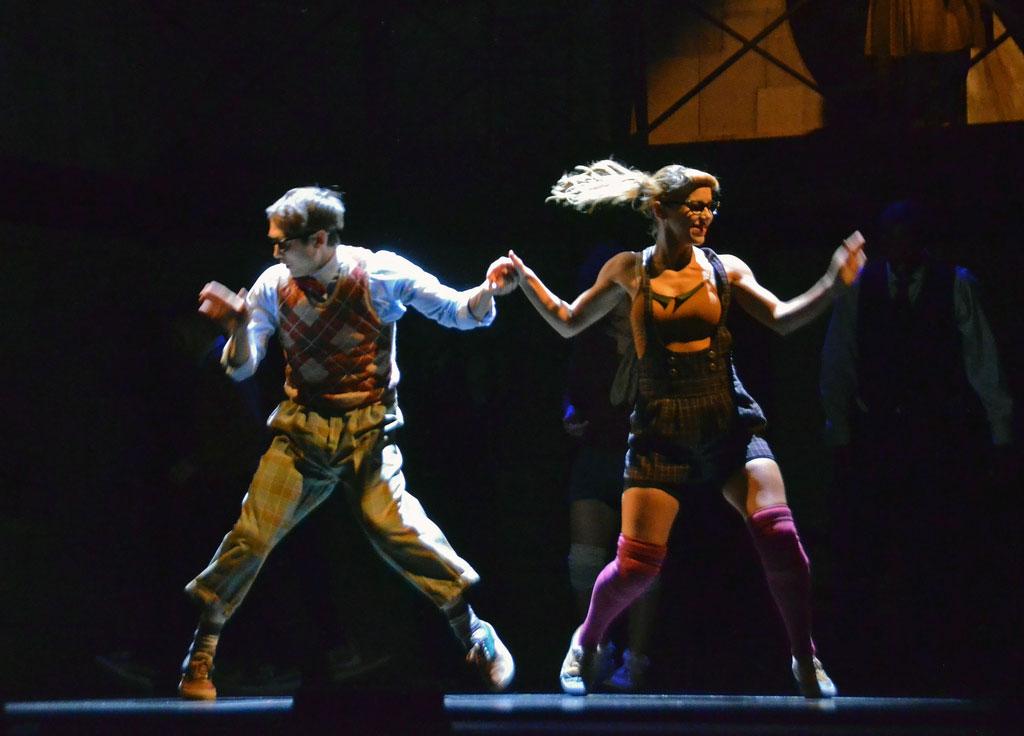 Tommy Franzen and Sarah Richards in <I>Some Like it Hip-Hop</I>.<br />© Dave Morgan. (Click image for larger version)