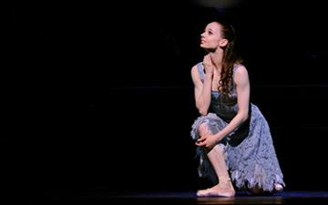 Maria Kochetkova in Wheeldon's Cinderella.© Erik Tomasson. (Click image for larger version)