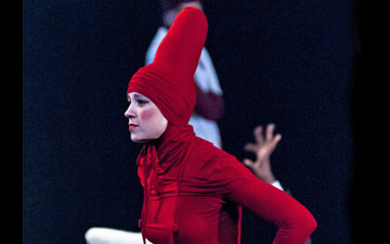 Lucia Barbadillo in Kirill Burlov's Woman and her Riding Hood.© Foteini Christofilopoulou. (Click image for larger version)