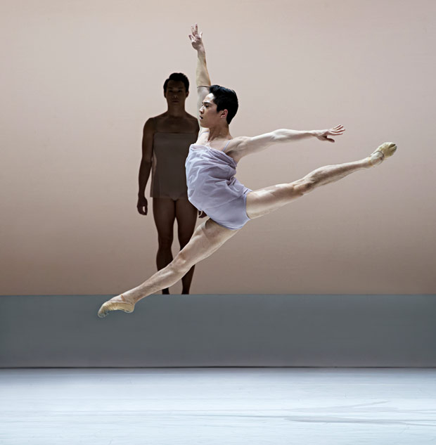 Jeffrey Cirio in Wayne McGregor's <I>Chroma</I>.<br />© Gene Schiavone. (Click image for larger version)