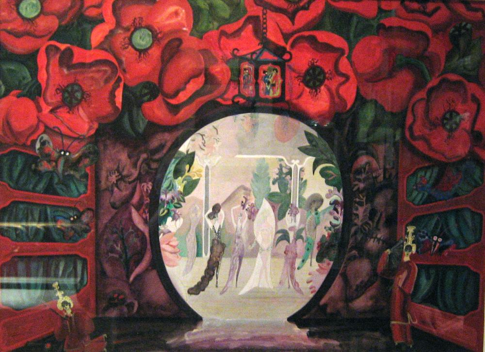 Edward Burra: Aladdin backcloth, never realised.From James L. Gordon Collection and ©. (Click image for larger version)