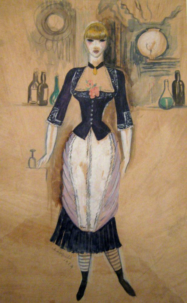 William Chappell: Costume design for Bar aux Folies-Bergere.From James L. Gordon Collection and ©. (Click image for larger version)