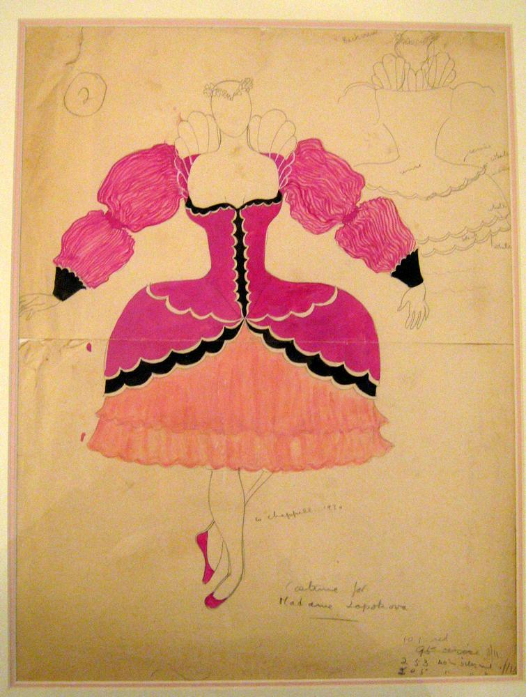 William Chappell: Costume design for Lydia Lopokova, Follow Your Saint.From James L. Gordon Collection and ©. (Click image for larger version)