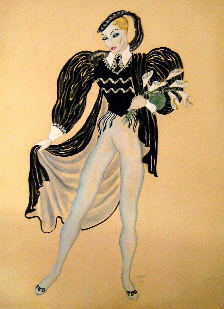William Chappell: Costume design for Giselle.From James L. Gordon Collection and ©. (Click image for larger version