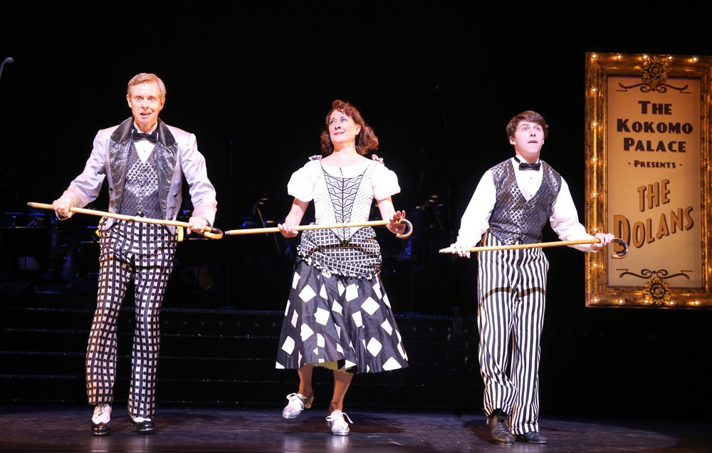 Randy Skinner, Karen Ziemba and Dalton Harrod in On Your Toes.© Joan Marcus. (Click image for larger version)