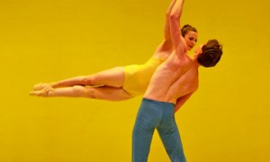 Jane Rehm and Jonathan Dummar in Petal by Helen Pickett.© Keith Sutter. (Click image for larger version)
