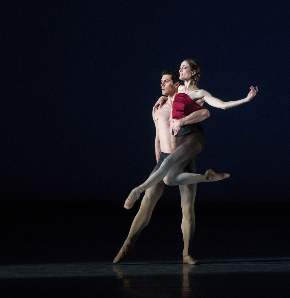 Julie Kent and Roberto Bolle in Marcelo Gomes' <I>Apothéose</I>.<br />© Marty Sohl. (Click image for larger version)