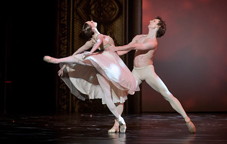 Olga Smirnova and Semyon Chudin in Roland Petit's <I>Thais</I>.<br />© Nikolay Krusser. (Click image for larger version)