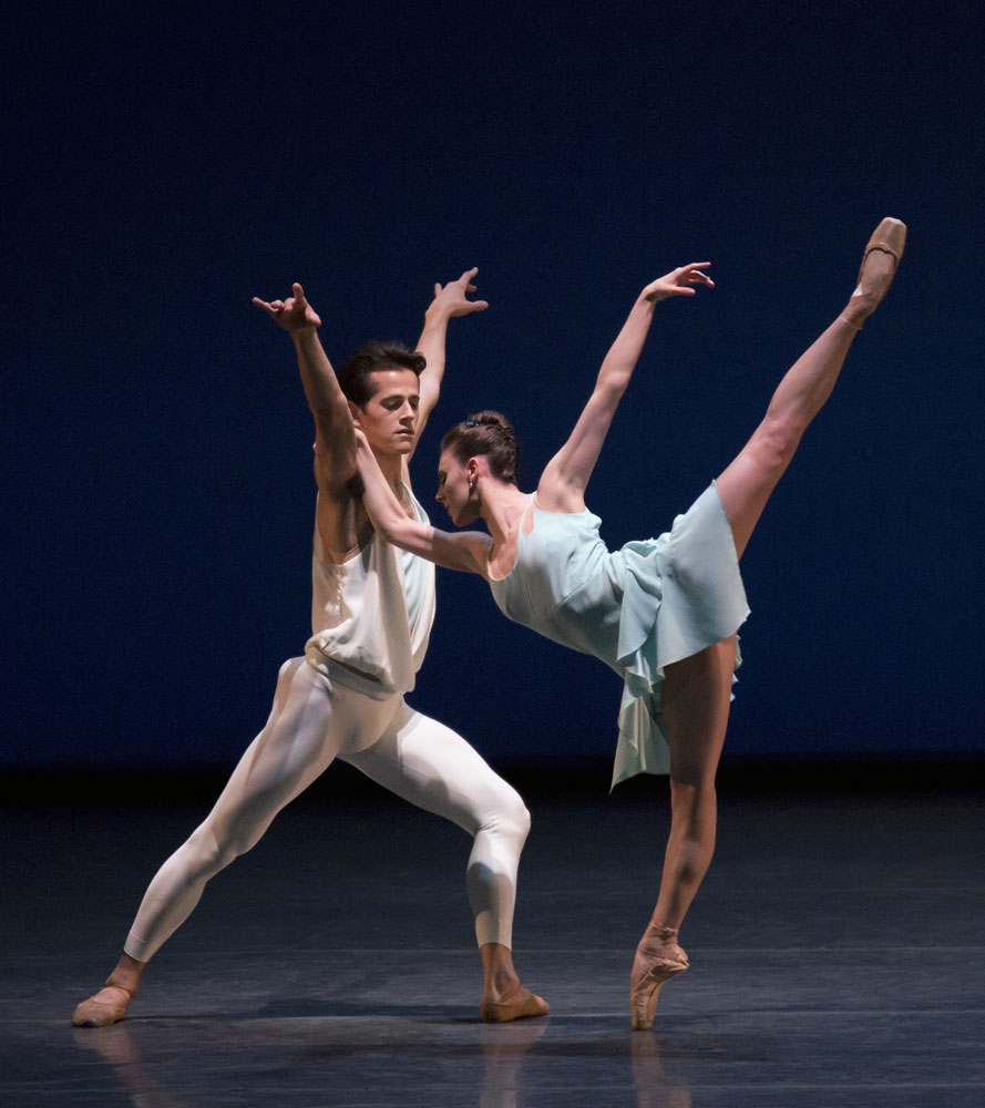 Tiler Peck and Robert Fairchild in Christopher Wheeldon's <I>A Place for Us</I>.<br />© Paul Kolnik. (Click image for larger version)