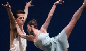 Tiler Peck and Robert Fairchild in Christopher Wheeldon's A Place for Us.© Paul Kolnik. (Click image for larger version)
