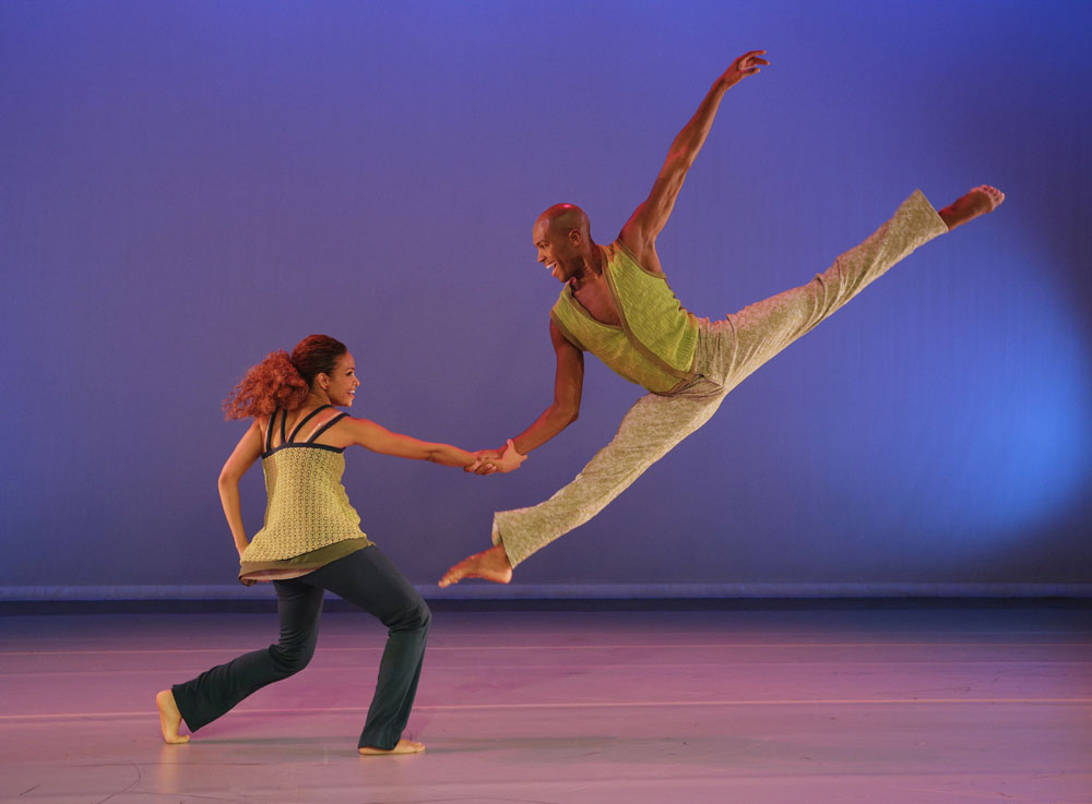 Belen Pereyra and Antonio Douthit in <I>Another Night</I> .<br />© Paul Kolnik. (Click image for larger version)