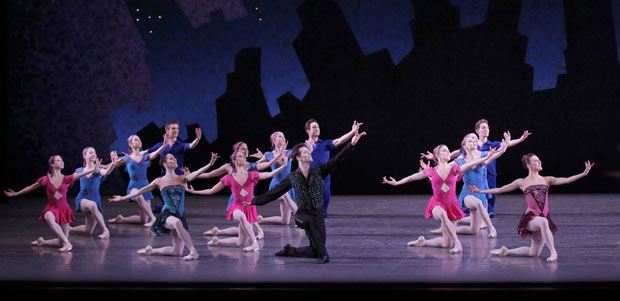 NYCB in George Balanchine's <I>Who Cares?</I>.<br />© Paul Kolnik. (Click image for larger version)