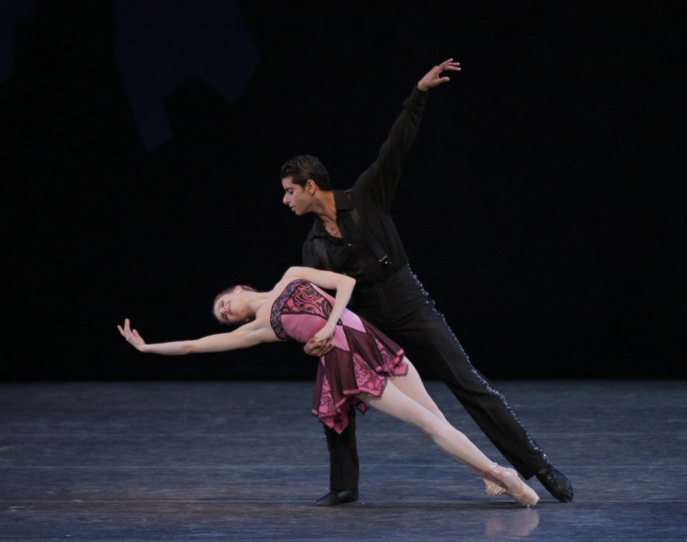 Sterling Hyltin and Amar Ramasar in George Balanchine's Who Cares?© Paul Kolnik. (Click image for larger version)