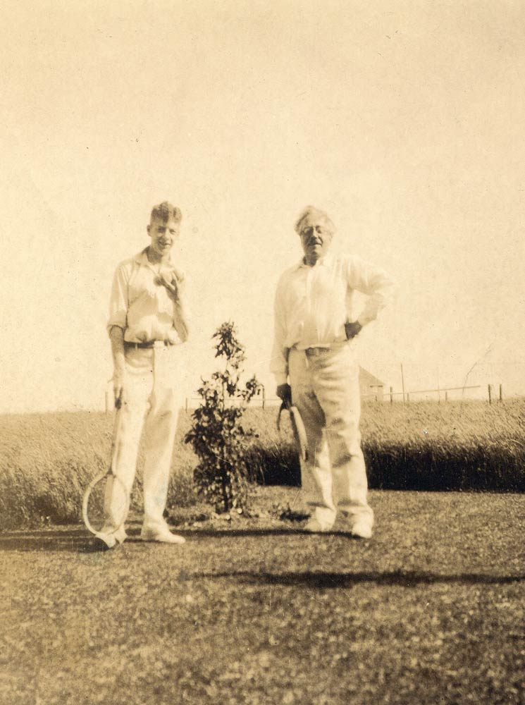 Benjamin Britten with Frank Bridge, 1930.<br />(Click image for larger version)