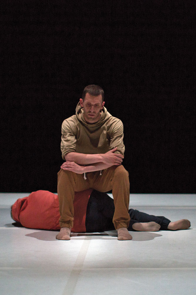 Jonathan Goddard and Gemma Nixon in Middlemost Nowhere.© Benedict Johnson. (Click image for larger version)