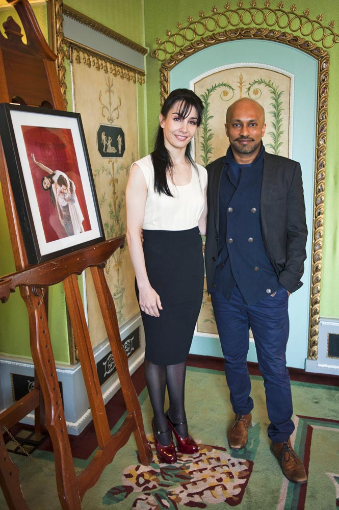 Tamara Rojo and Akram Khan at today's press briefing.© David Jensen. (Click image for larger version)
