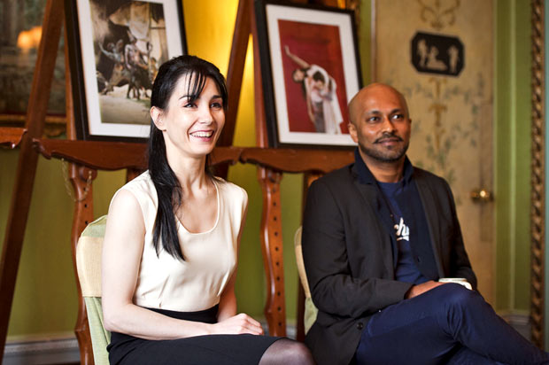 Tamara Rojo and Akram Khan at today's press briefing.<br />© David Jensen. (Click image for larger version)