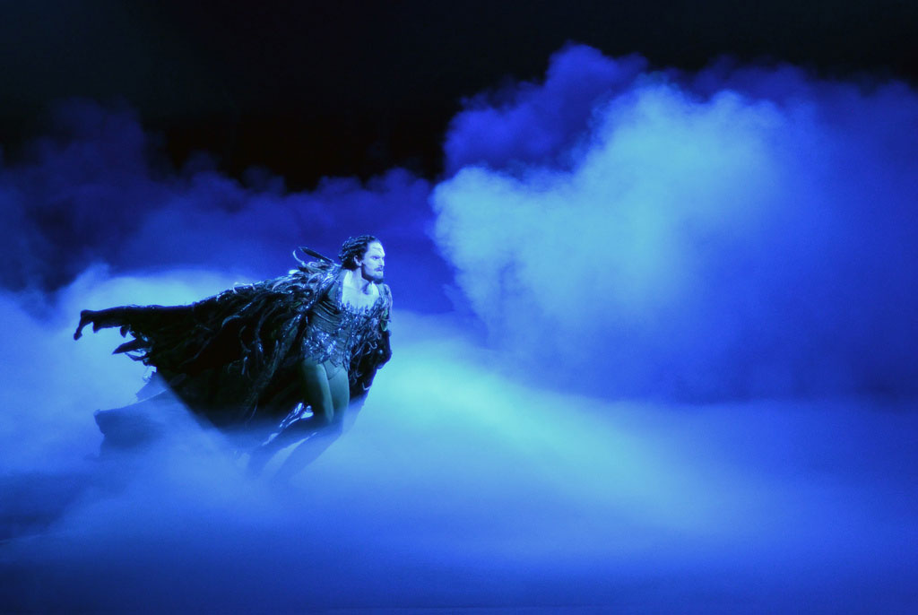 James Streeter as Rothbart in Swan Lake.© Dave Morgan. (Click image for larger version)