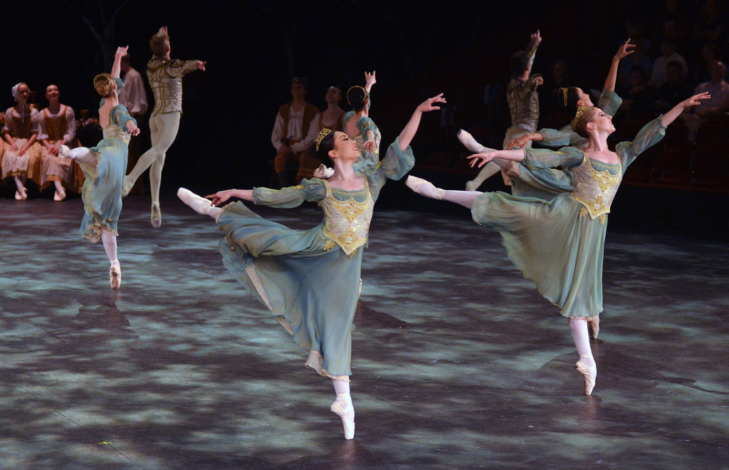 English National Ballet in the Waltz section of Swan Lake.© Dave Morgan. (Click image for larger version)