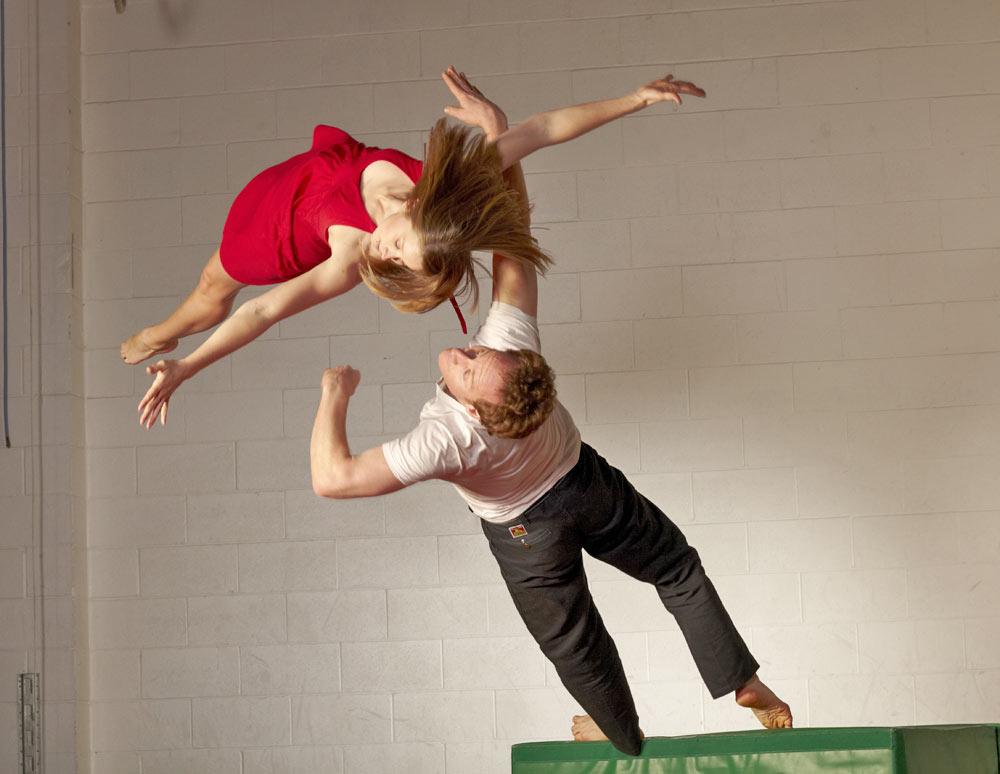 Scott Wells and Dancers in Parkour Deux.© David Papas. (Click image for larger version)
