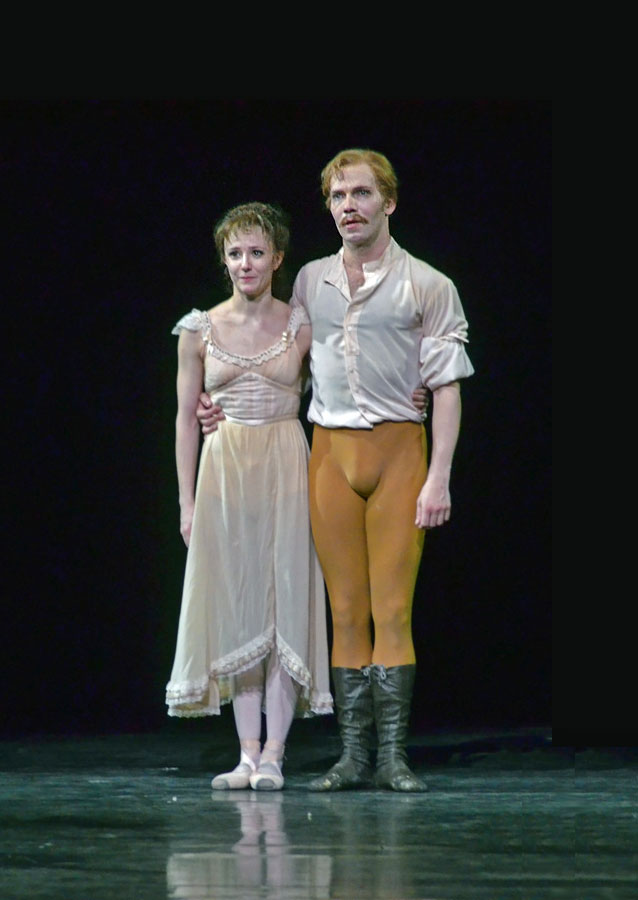 Johan Kobborg and Alina Cojocaru after their farewell performance as captured by a reader.© DanceTabs. (Click image for larger version)
