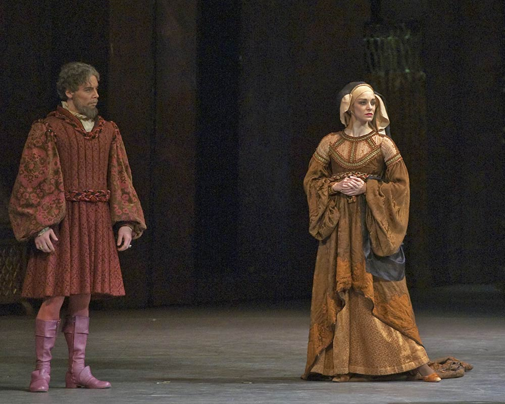 Roman Zhurbin and Kristi Boone and Lord and Lady Capulet in Romeo and Juliet.© John Grigaitis. (Click image for larger version)