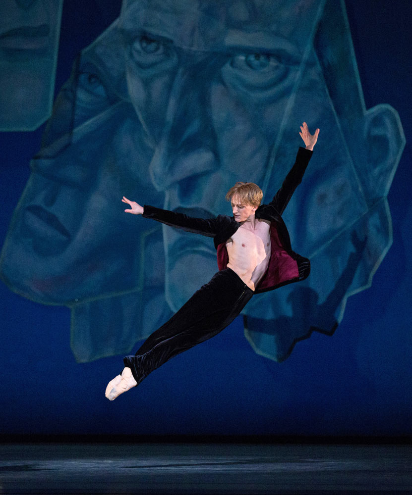 David Hallberg in Chamber Symphony.© Marty Sohl. (Click image for larger version)