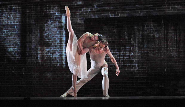 Royal Ballet: Mara Galeazzi and Edward Watson in Kim Brandstrup's <I>Ceremony of Innocence</I>.<br />© Rob Marrison. (Click image for larger version)