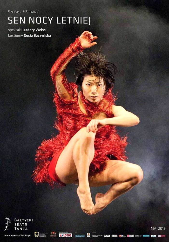 Poster for A Midsummer Night's Dream with Sayaka Haruna as Puck.© Sebastian Cwikla. (Click image for larger version)
