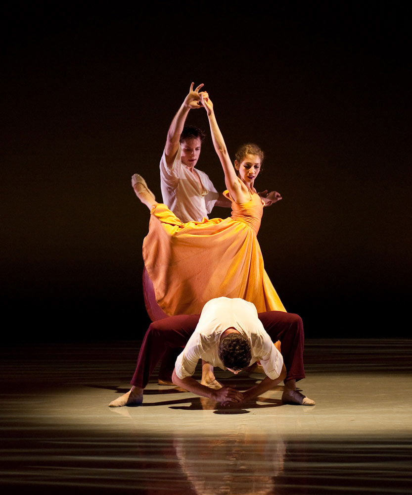 Richmond Ballet's Shira Lanyi, Jess Bechard and Kirk Henning in Ershter Vals.© Sarah Ferguson. (Click image for larger version)