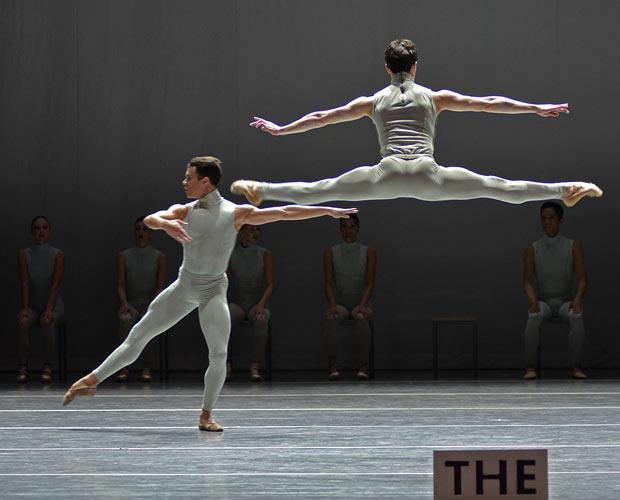 Boston ballet in William Forsythe's <I>The Second Detail</I>.<br />© Dave Morgan. (Click image for larger version)