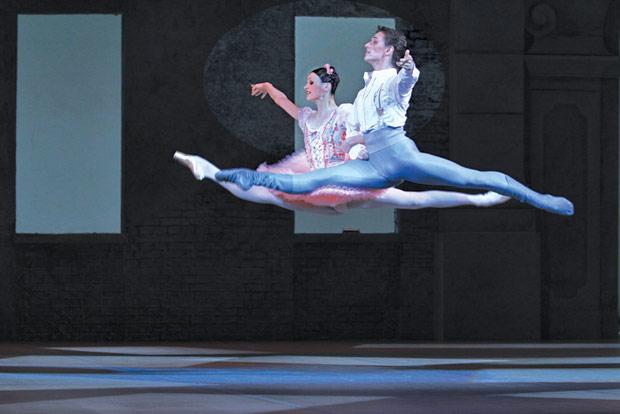 Sergei Polunin and Kristina Shapran in Petit's <I>Coppelia</I>.<br />© E Fetisova. (Click image for larger version)