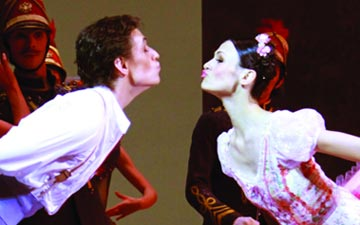 Sergei Polunin and Kristina Shapran in Petit's Coppelia.© E Fetisova. (Click image for larger version)