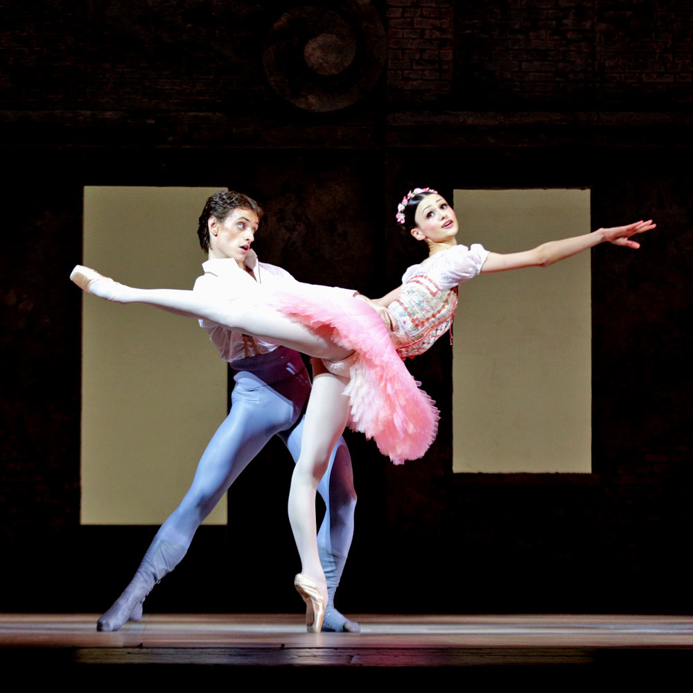 Sergei Polunin and Kristina Shapran in Petit's Coppelia.© E Fetisova. (Click image for larger version)