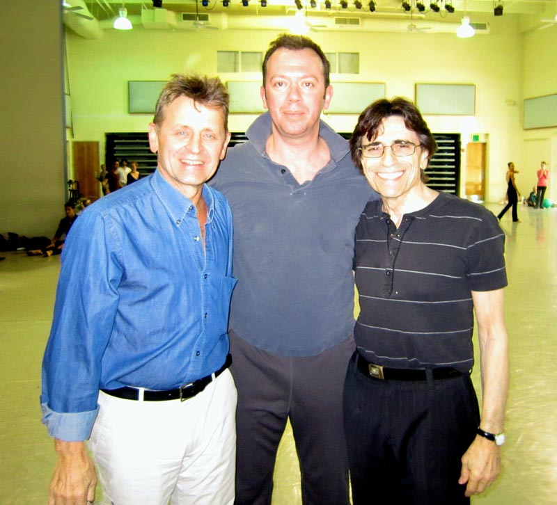 Threee of the greats of ballet: Mikhail Baryshnikov, Alexei Ratmansky and Edward Villella.© and courtesy Edward Villella. (Click image for larger version)