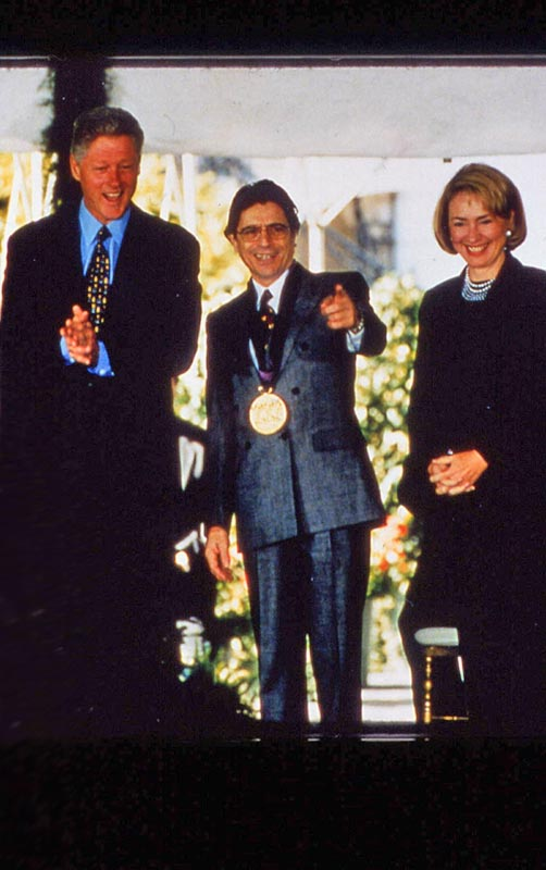 1997, Edward Villella being awarded the National Medal of Arts by Bill Clinton.© and courtesy Edward Villella. (Click image for larger version)