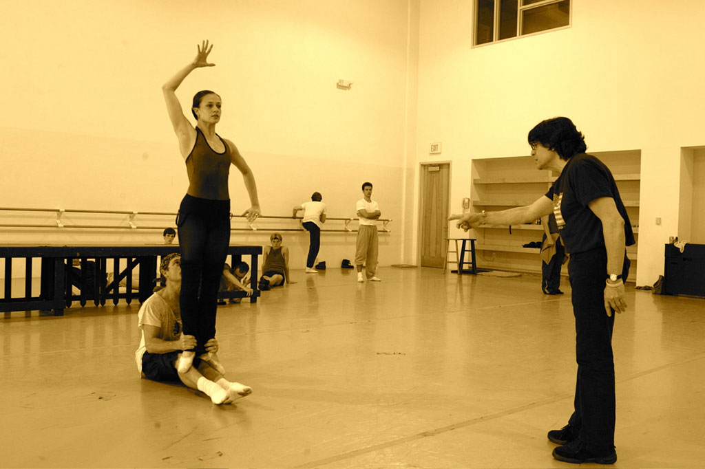 Edward Villella coaching Prodigal Son at Miami City Ballet.© and courtesy Edward Villella. (Click image for larger version)