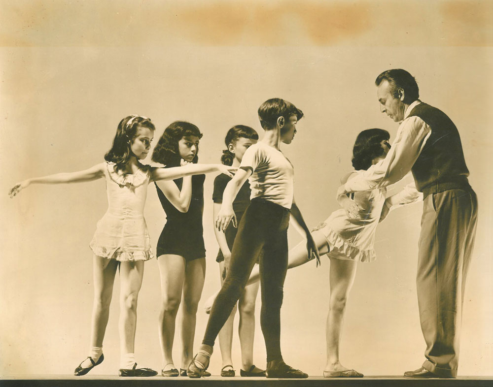 Villella (age 10) with his class and Mr. B (George Balanchine) at the School of American Ballet.© George Platt Lynes, courtesy Edward Villella. (Click image for larger version)